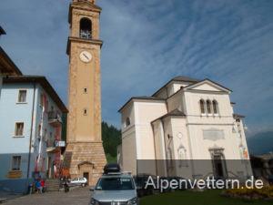 Die Kirche von Padola weckt mediterrane Assoziationen.